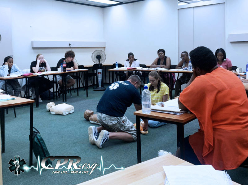 CPR-esq First Aid training 13